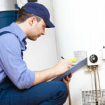 Inspecting water heater
